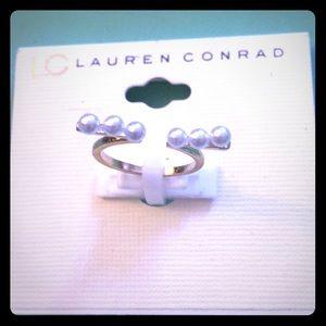 LC Lauren Conrad pearl adjustable ring